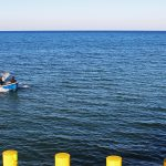 Morze Bałtyckie - widok z molo w Chłopach